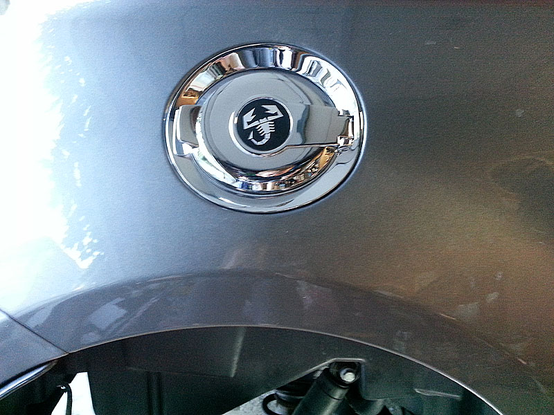 Chrome Fuel Filler Installed