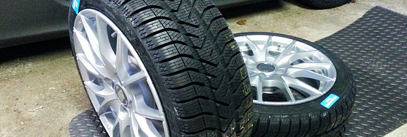 195/45R-16 Pirelli Winter Snowcontrol Serie 3 on MSW Type 25 Wheels